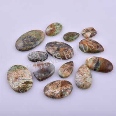 Free Size Natural Serpentine Opalite Smooth Mix Shape Cabochon