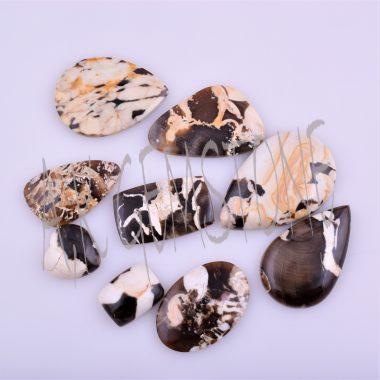 peanut wood jasper smooth cabochon