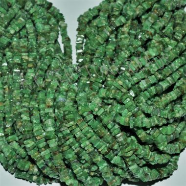 chrome diopside square beads