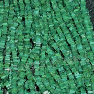 dark emerald square beads