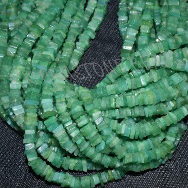 light emerald square beads