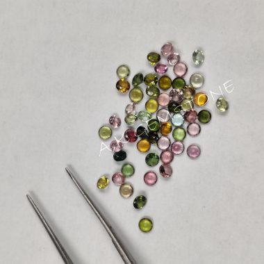 4mm round multi tourmaline