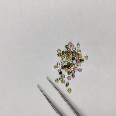 2mm round multi tourmaline