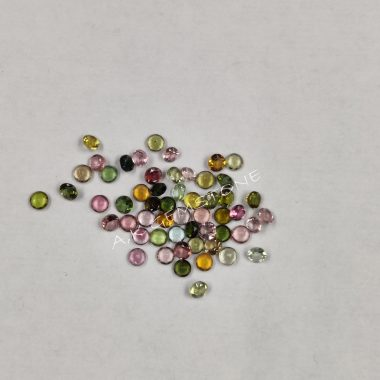 3mm round multi tourmaline