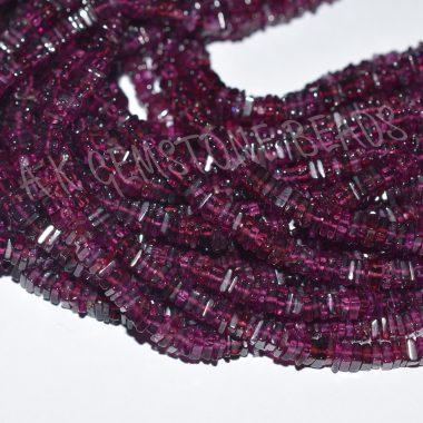 rhodolite garnet square beads