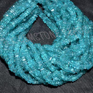 sky apatite square beads