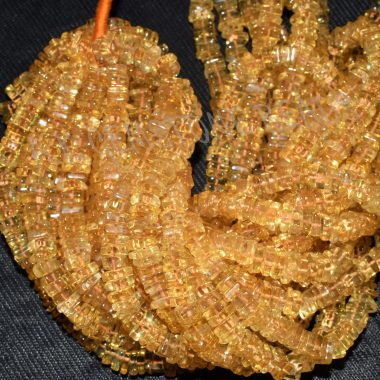 citrine square beads