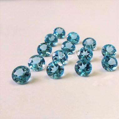 4mm swiss blue topaz