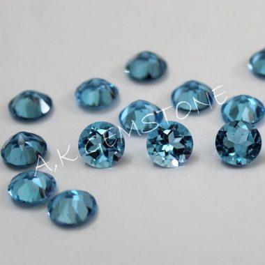 5mm swiss blue topaz