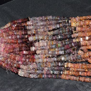 multi spinel square beads