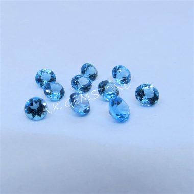 3mm swiss blue topaz