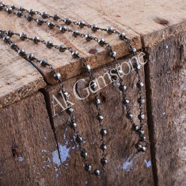 natural pyrite rosary chain