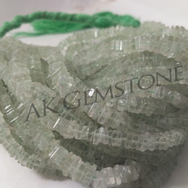 green amethyst square beads
