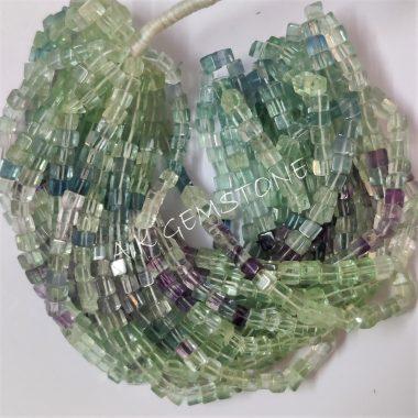 flourite smooth box beads