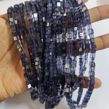 iolite smooth box beads