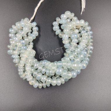 smooth aqua chalcedony beads