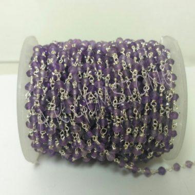 amethyst gemstone rosary bead